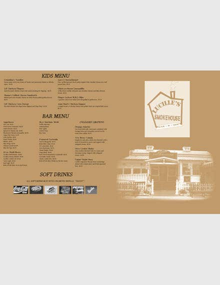 sample bbq menu