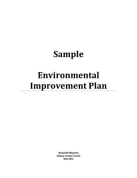 sample environmental improvement plan