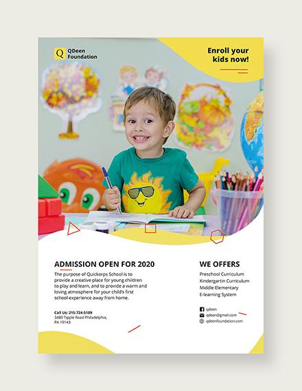 school flyer template 1x