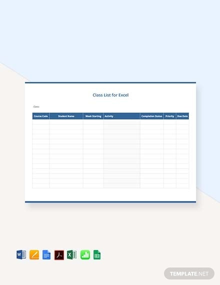 simple class list template1