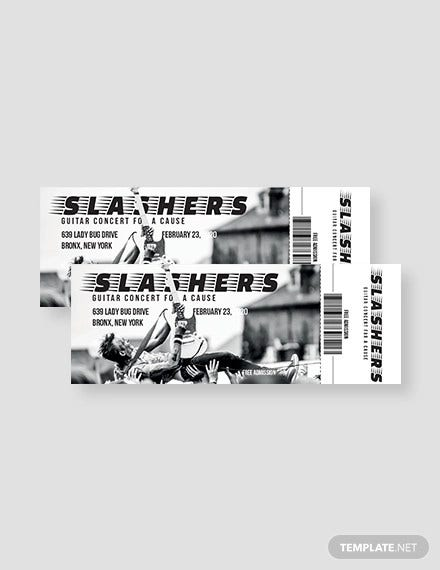 simple concert admission ticket template
