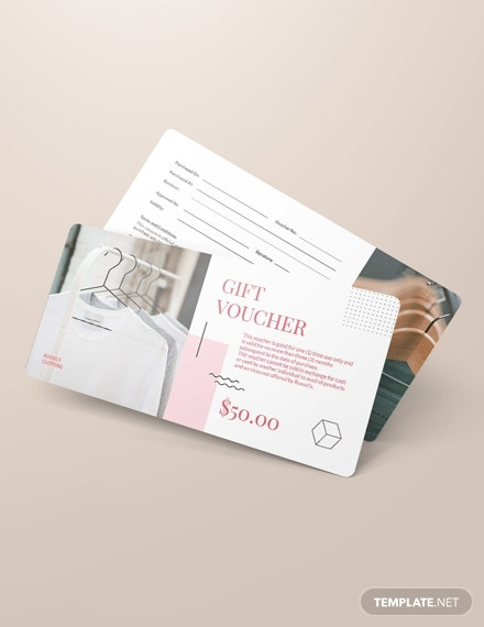 simple thank you voucher psd template