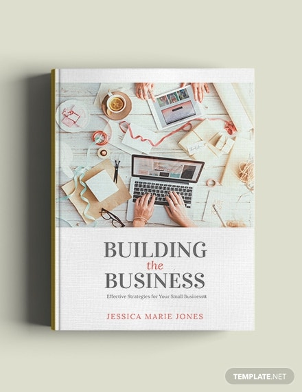 small business book cover template in word