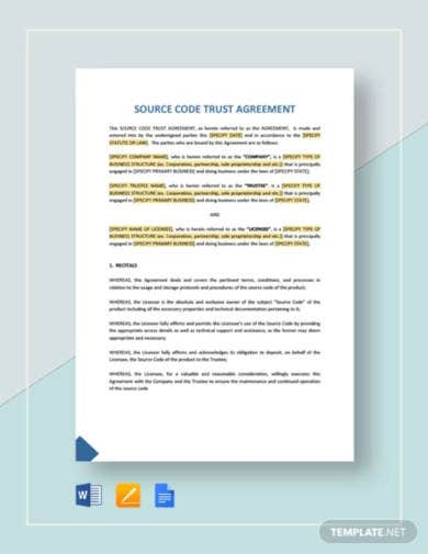 source code trust agreement