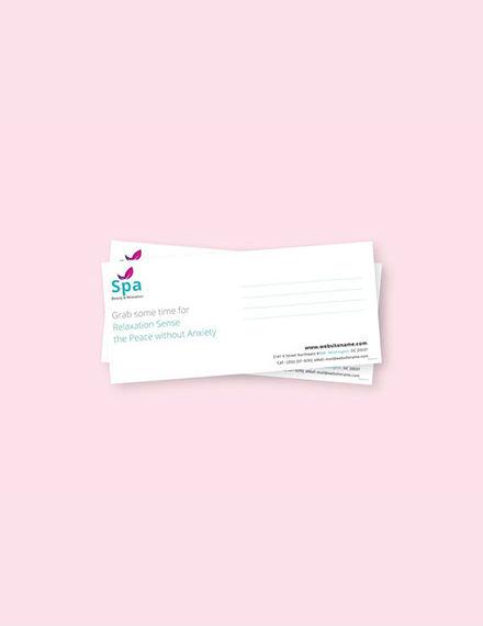 spa envelope word template