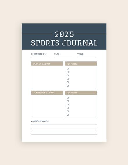 sports journal notebook m1x 1