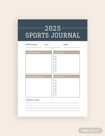 sports journal template