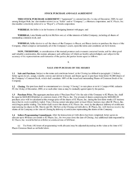 8 Stock Purchase Agreement Templates Free Premium Templates