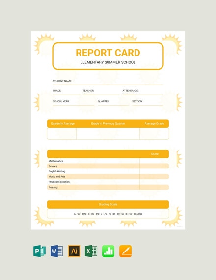 summer report card