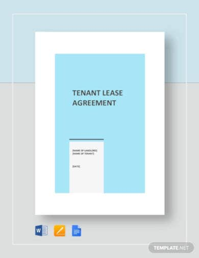 tenant lease agreement template