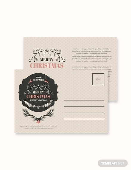 transparent christmas postcard template