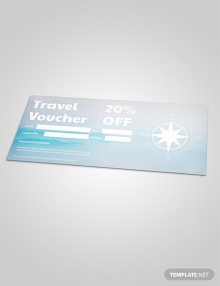 travel discount voucher template