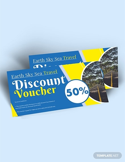 travel and trip discount voucher template