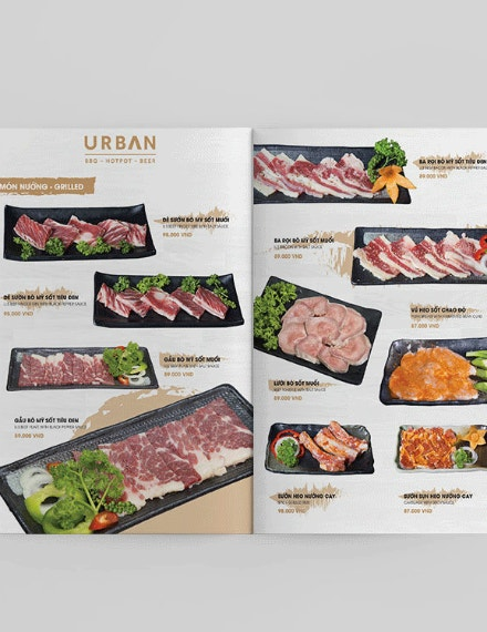 urban bbq food menu sample
