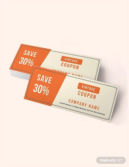 vintage blank coupon template1