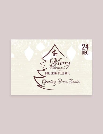 vintage christmas greeting card example