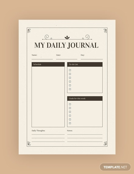 vintage journal template psd