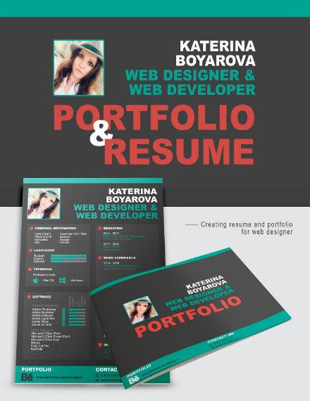 web designer portfolio resume