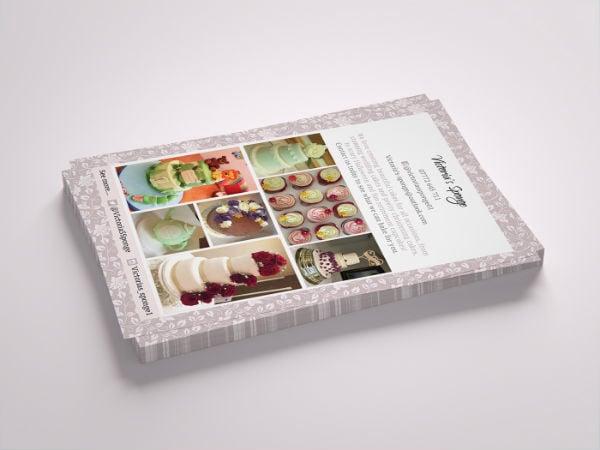 wedding cake sale flyer