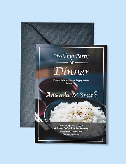 wedding dinner party invitation example