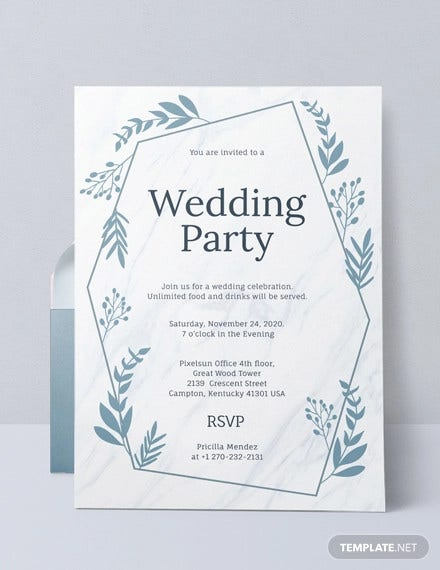 wedding party invitation