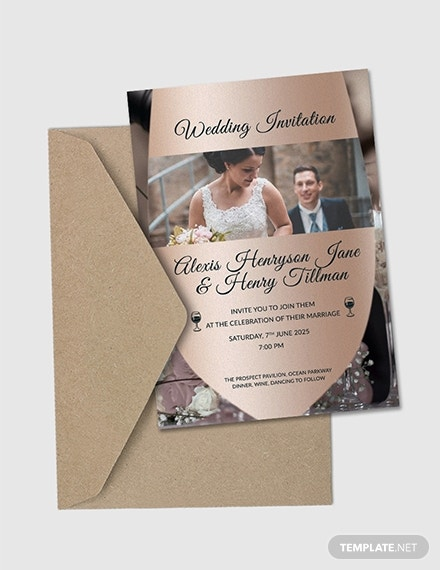 winery wedding invitation card template