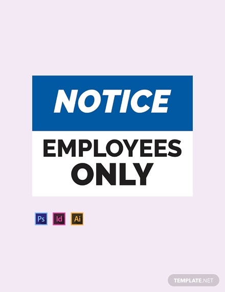 workplace sign template psd