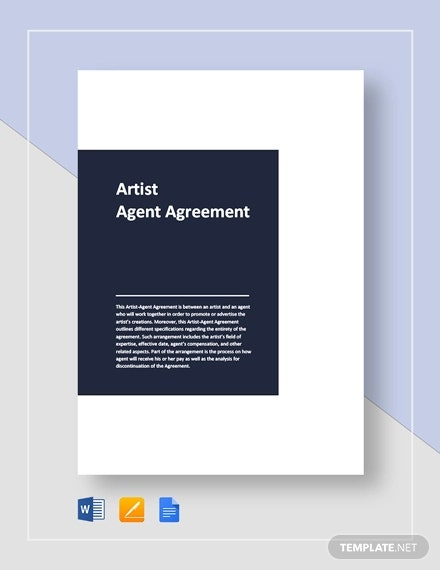 artist agent agreement
