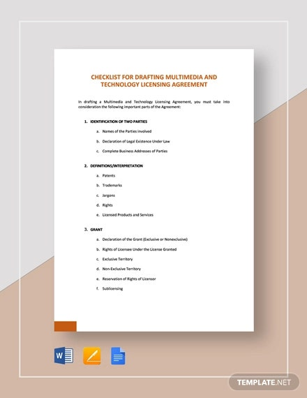 checklist drafting multimedia and technology