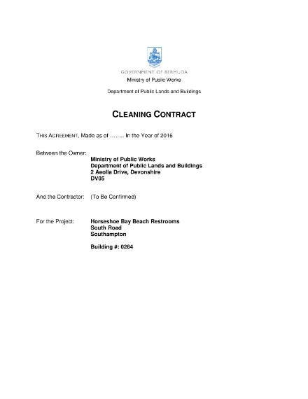 cleaning contracts 1