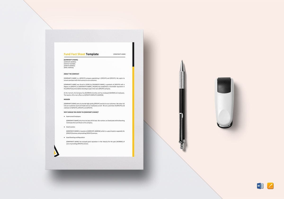 fund fact sheet template1
