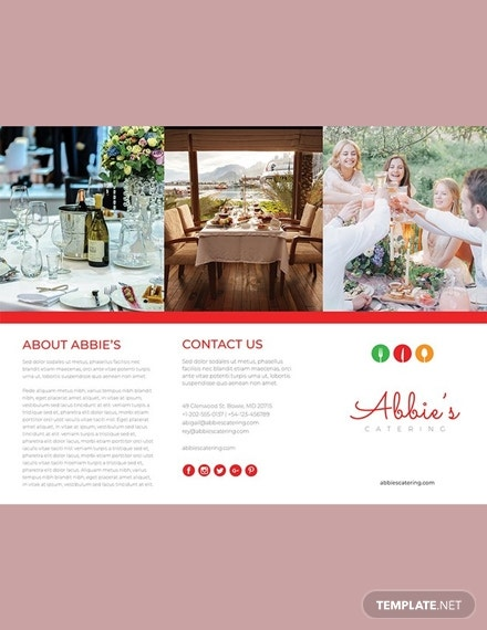 abbie catering trifold brochure example