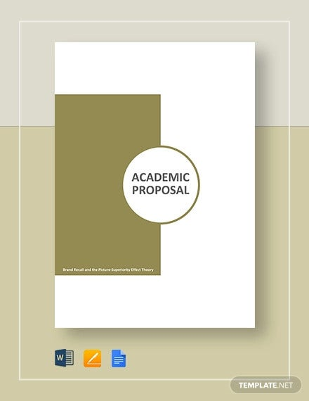 academic proposal template