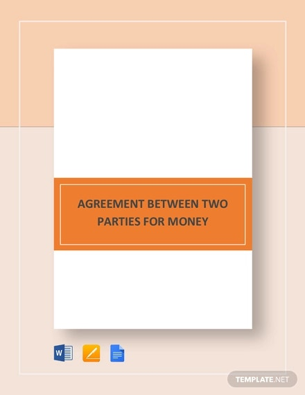 agreement between two parties for money