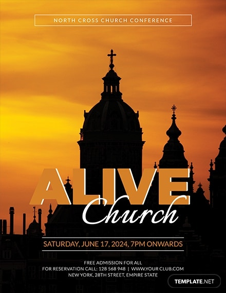 alive church conference flyer example