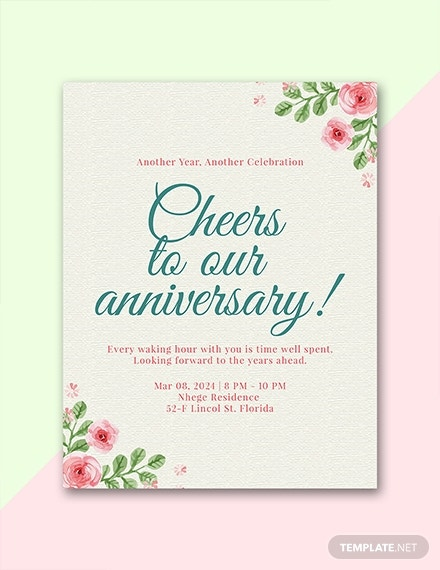 anniversary program template