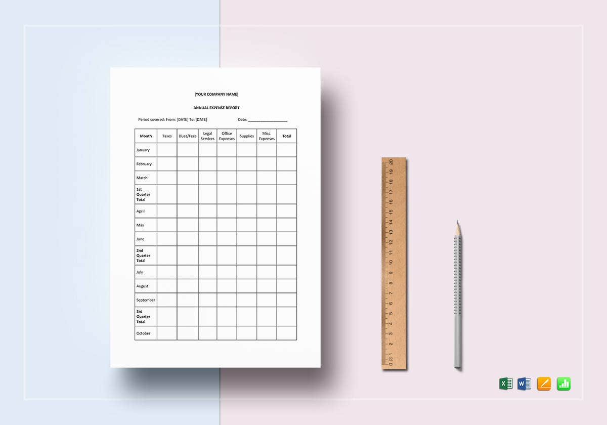 annual expense report template