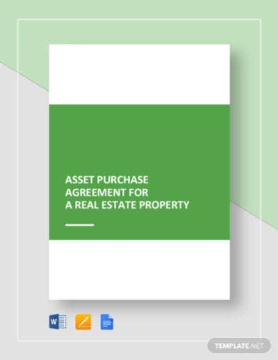 asset purchase agreement for a real estate property