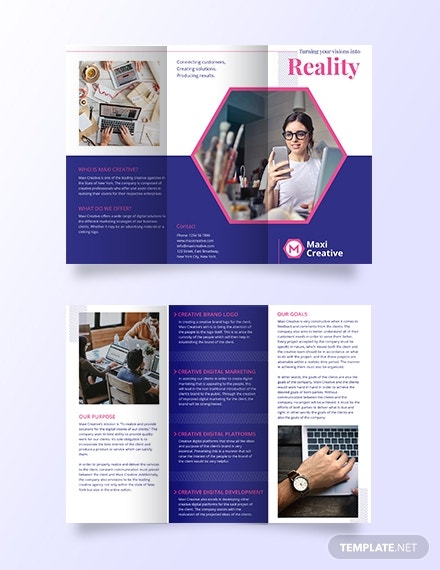 awesome trifold agency brochure layout