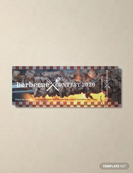 free bbq event ticket template download 57 tickets in psd word publisher illustrator indesign apple pages templatenet