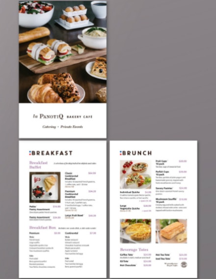 bakery catering brochure example