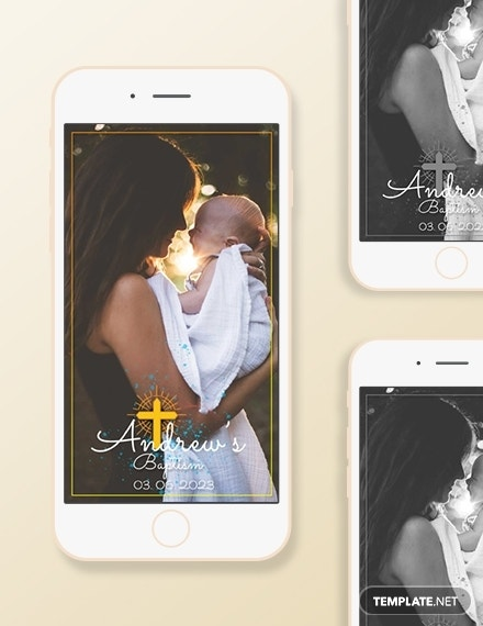 baptism snapchat geofilters psd template