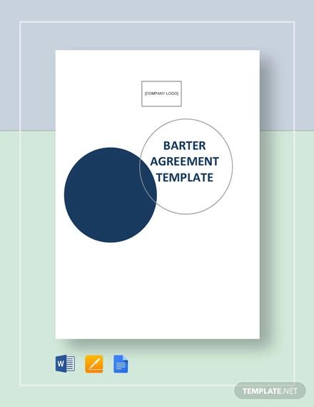 6 Barter Agreement Templates Pdf Word Free Premium