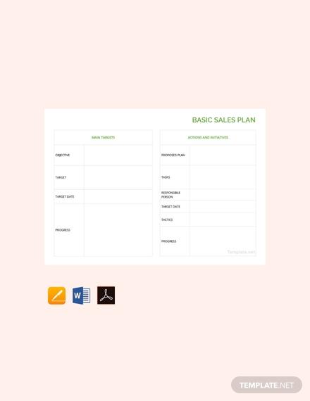 basic sales plan