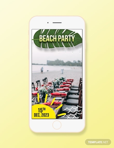 beach party snapchat geofilters template1