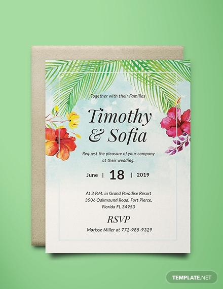 beach wedding invitation card design