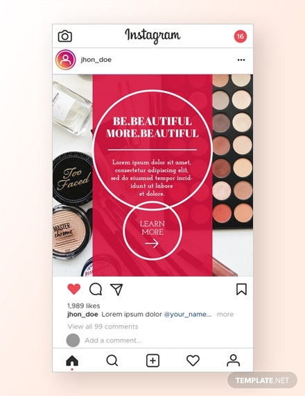 beauty instagram ad psd template