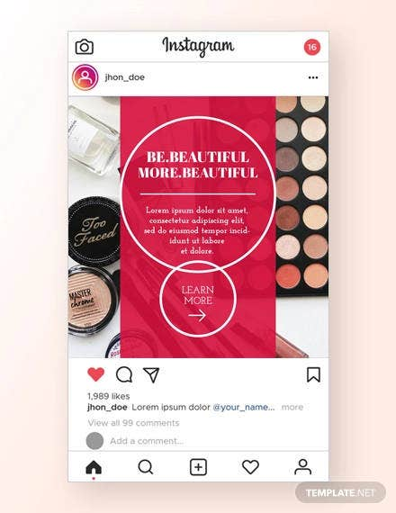 beauty instagram ad template1