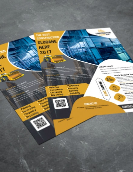 best construction company flyer example