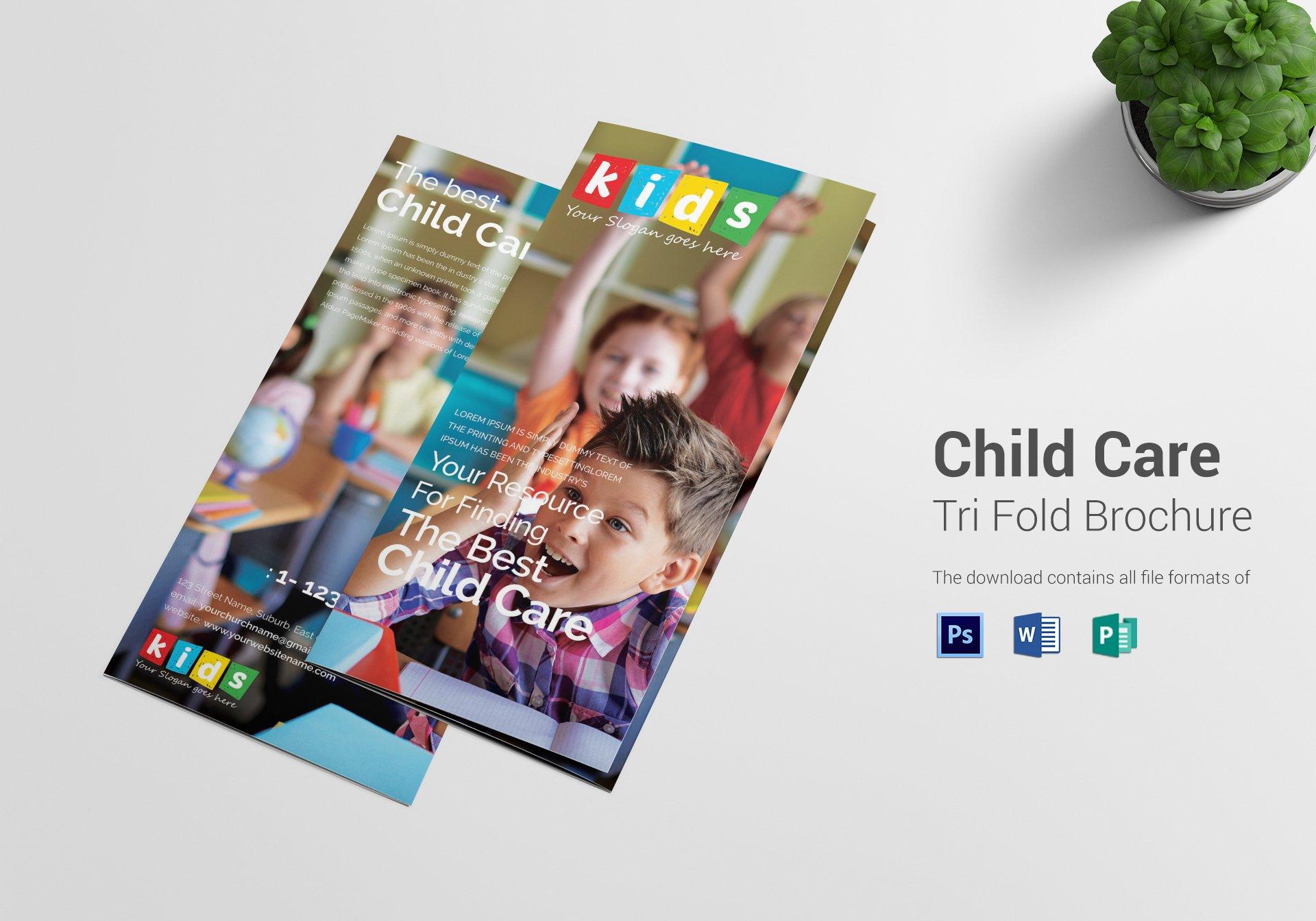 best kids care trifold brochure